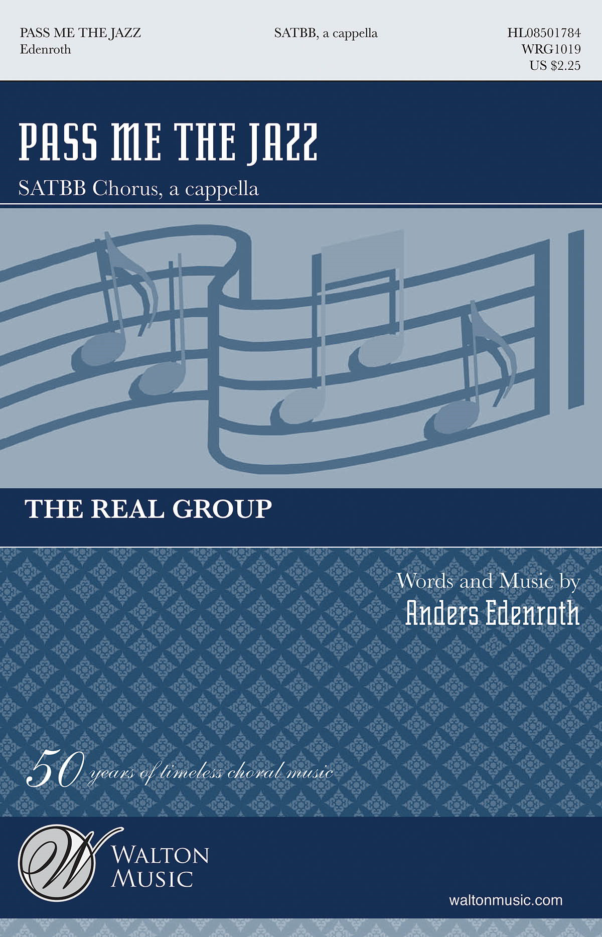 Edenroth: Pass Me the Jazz SATBB published by Walton