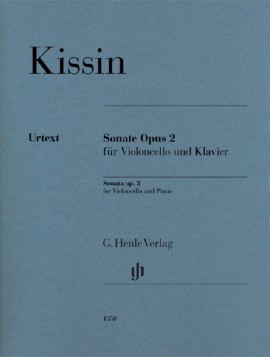 Kissin: Cello Sonata Opus 2 published by Henle