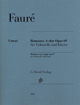 Faure: Romance in A Opus 69 for Cello published by Henle