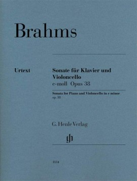 Brahms: Sonata in E Minor Opus 38 for Cello published by Henle Urtext