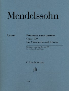Mendelssohn: Romance sans paroles Opus 109 for Cello published by Henle