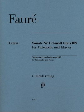 Faure: Sonata No 1 in D minor Opus 109 for Cello published by Henle