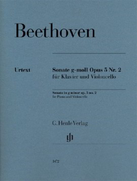 Beethoven: Sonata in G minor Opus 5/2 for Cello published by Henle