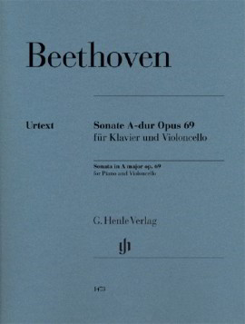 Beethoven: Sonata in A Opus 69 for Cello published by Henle