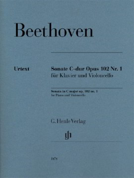 Beethoven: Sonata in C Opus 102/1 for Cello published by Henle