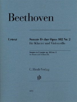 Beethoven: Sonata in D Opus 102/2 for Cello published by Henle
