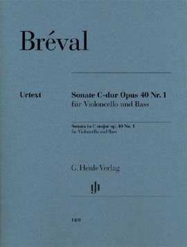 Breval: Sonata in C for Cello published by Henle