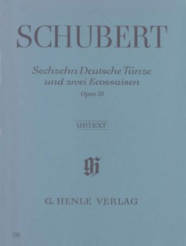 Schubert: 16 German Dances and 2 Ecossaises for Piano published by Henle