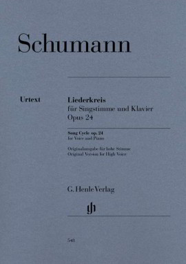 Schumann: Song Cycle Opus 24 published by Henle