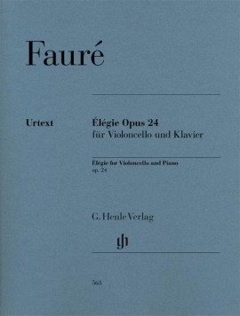 Faure: Elegie for Cello published by Henle