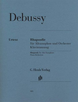 Debussy: Rhapsodie for Alto Saxophone published by Henle