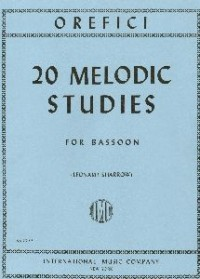 Melodic Studies for Bassoon by Orefici published by IMC
