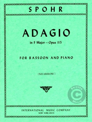 Adagio by Spohr for Bassoon published by IMC