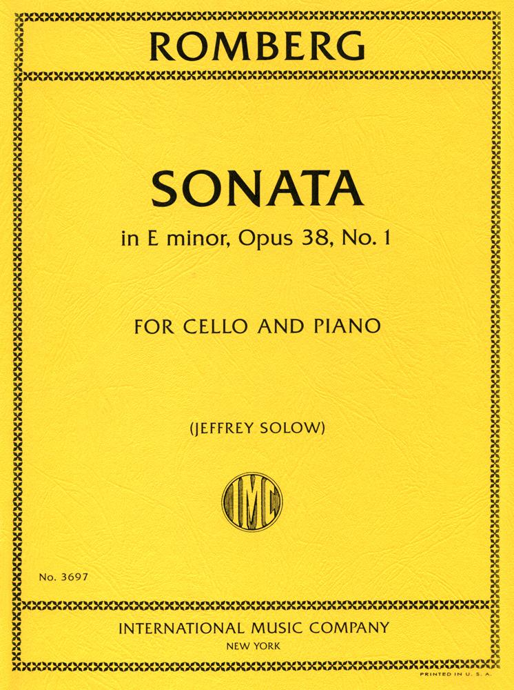 Romberg: Sonata in E Minor for Cello published by IMC