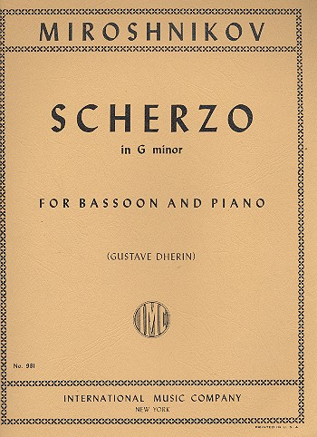 Miroshnikov: Scherzo for Bassoon published by IMC