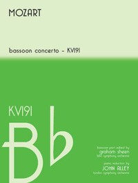 Concerto in Bb K191 by Mozart for Bassoon published by Mayhew