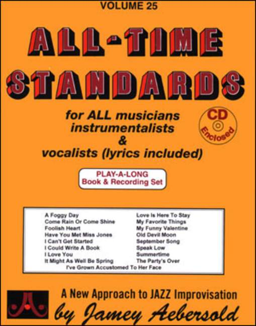 Aebersold 25 All-Time Standards Book & CD for All Instruments