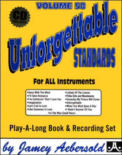 Aebersold 58 Unforgettable Standards Book & CD for All Instruments