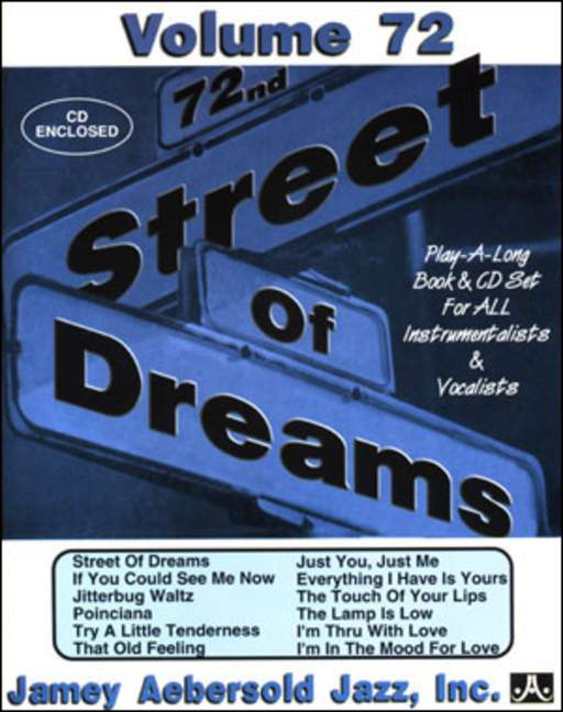Aebersold 72 Street Of Dreams Book & CD for All Instruments