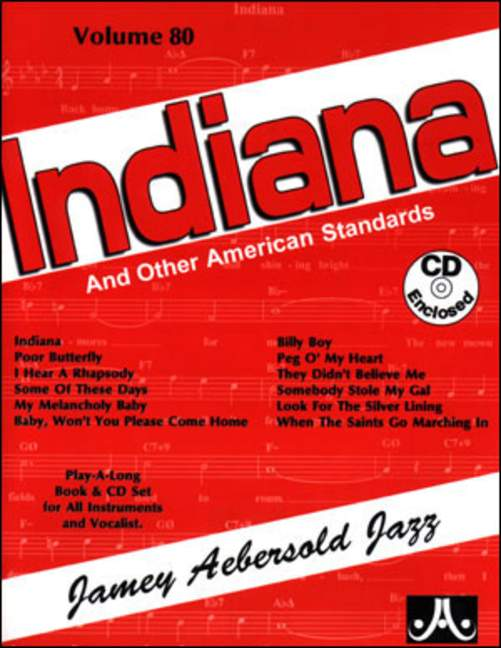 Aebersold 80 Indiana & CD for All Instruments
