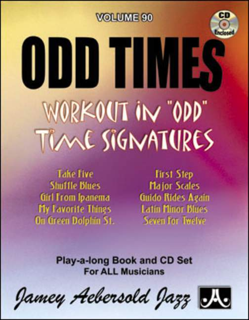 Aebersold 90 Odd Times Book & CD for All Instruments