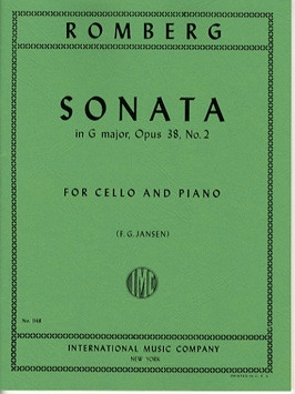 Romberg: Sonata in G Major Opus 38/2 for Cello published by IMC