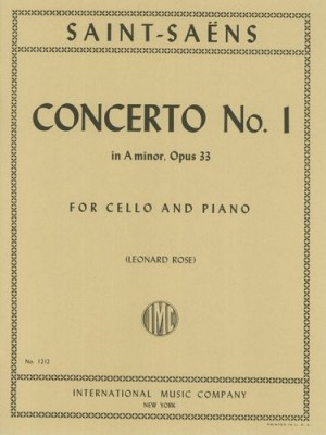 Saint-Saen: Cello Concerto No 1 in A minor Opus 33 published by IMC