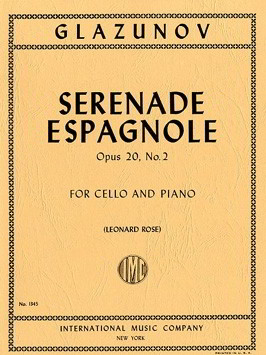 Glazunov: Serenade Espagnole Opus 20/2 for Cello published by IMC
