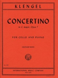 Klengel: Concertino in C Opus 7 for Cello published by IMC