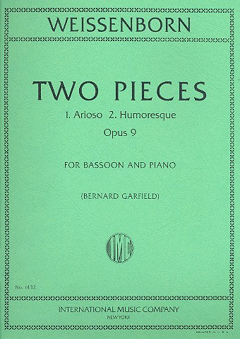 Weissenborn: Two Pieces Opus 9 for Bassoon published by IMC