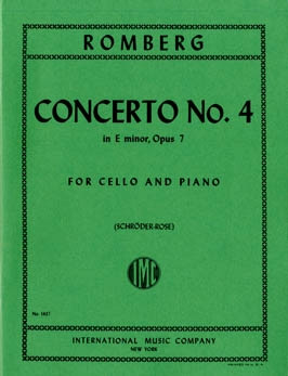Romberg: Concerto No 4 in E Minor Opus 7 for Cello published by IMC