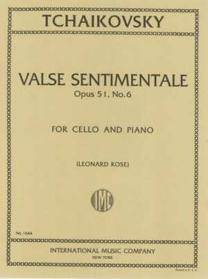 Tchaikovsky: Valse Sentimentale Opus 51/6 for Cello published by IMC