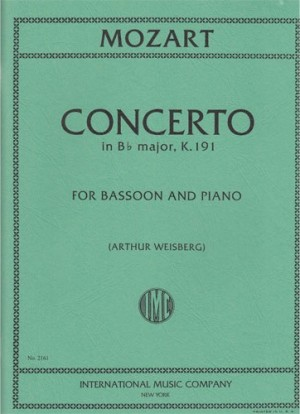 Concerto in Bb K191 by Mozart for Bassoon published by IMC