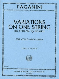 Paganini: Variations On One String On A Theme by Rossini for Cello published by IMC