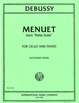 Debussy: Minuet from Petite Suite for Cello published by IMC