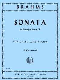 Brahms: Sonata in D Opus 78 for Cello published by IMC
