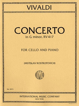Vivaldi: Concerto in G Minor RV417 for Cello published by IMC