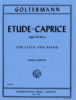 Goltermann: Etude caprice Opus 54/4 for Cello published by IMC
