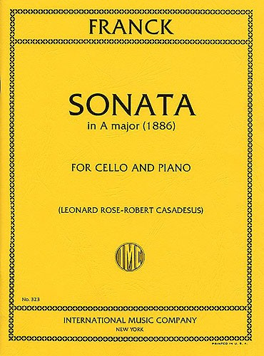 Franck: Sonata in A for Cello published by IMC