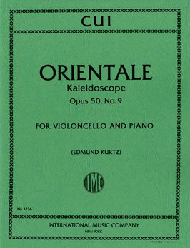 Cui: Orientale Opus 50/9 for Cello published by IMC