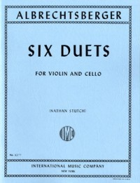 Albrechtsberger: 6 Duets for violin & cello published by IMC