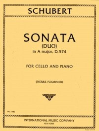Schubert: Sonata (duo) in A D574 for Cello published by IMC