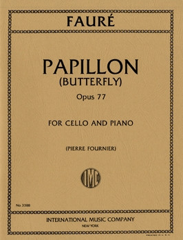 Faure: Papillon Opus 77 for Cello published by IMC