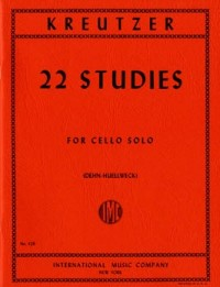 Kreutzer: 22 Selected Studies for Cello published by IMC