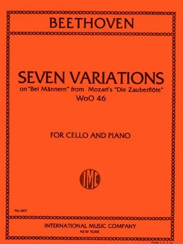 Beethoven: 7 Variations for Piano and Cello WoO 46 published by IMC