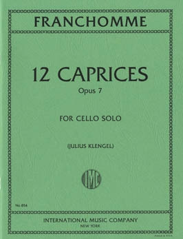 Franchomme: 12 Caprices Opus 7 for Cello published by IMC