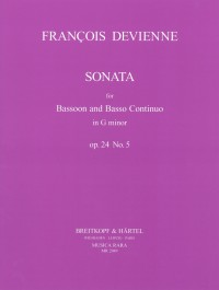 Devienne: Sonata in G Minor Opus 24/5 for Bassoon published by Breitkopf