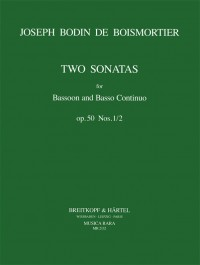 Boismortier: 2 Sonatas (1 & 2) Opus 50 for Bassoon published by  Breitkopf