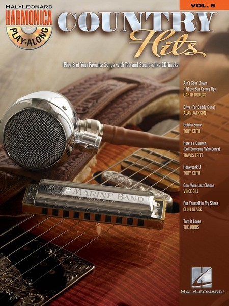 Harmonica Play-Along 6: Country Hits published by Hal Leonard