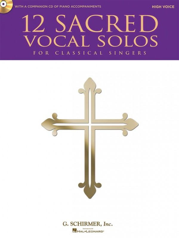 12 Sacred Solos - High Voice Book & CD published by Hal Leonard
